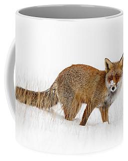 Red Fox In A Snow Covered Scene Coffee Mug