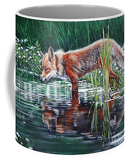 Red Fox Reflecting Coffee Mug