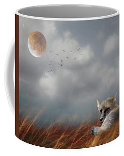 Red Fox In The Moonlight Coffee Mug