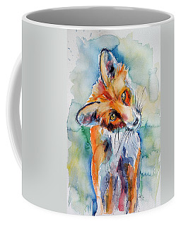 Red Fox Watching Coffee Mug