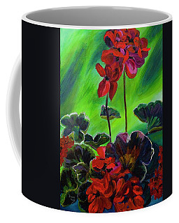Red Geranium Coffee Mug