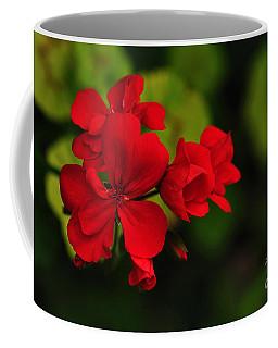 Red Geranium Coffee Mug by Kaye Menner