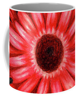 Red Gerbera Daisy Drawing Coffee Mug