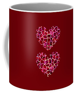 Red Giraffe Print Coffee Mug