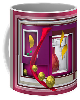 Red Glass In The Room With White Light Coffee Mug