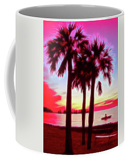 Coffee Mug featuring the photograph Red Glow Beach Sunset by Aimee L Maher Photography and Art Visit ALMGallerydotcom