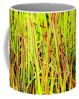 Red Green And Yellow Grass Coffee Mug