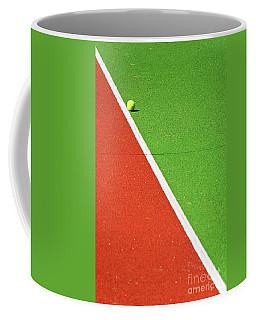 Red Green White Line And Tennis Ball Coffee Mug