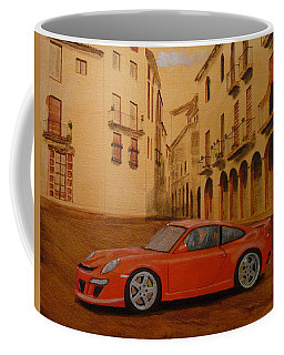 Red Gt3 Porsche Coffee Mug