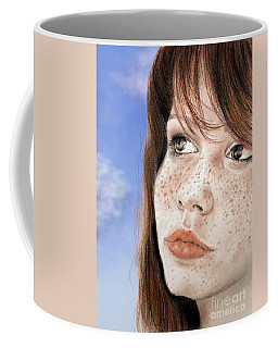 Red Hair And Freckled Beauty Version II Coffee Mug