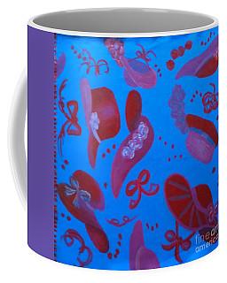 Red Hat Floor Cloth Coffee Mug by Judith Espinoza
