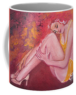 Blaa Kattproduksjoner                   Red Head In Yellow Bathingsuit Coffee Mug