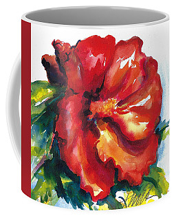 Fireball Red Hibiscus Coffee Mug
