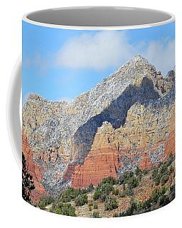 Coffee Mug featuring the photograph Red Hills Ridge Shadow by Lynda Lehmann