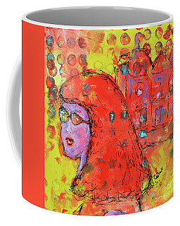 Coffee Mug featuring the painting Red Hot Summer Girl by Claire Bull