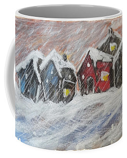 Red House In The Snow Coffee Mug