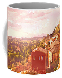 Red House On A Hill Coffee Mug