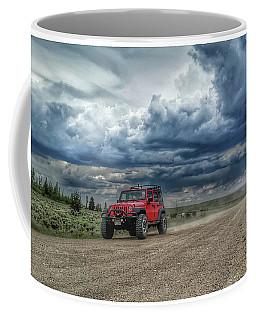Red Jeep Ride Coffee Mug