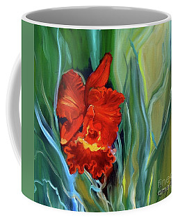 Red Jungle Orchid Coffee Mug