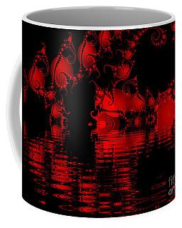 Red Lake Cave Fractal Coffee Mug