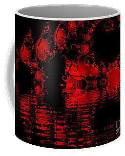 Red Lake Cave Fractal Coffee Mug