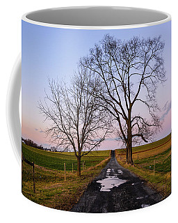 Red Lane With Purple Sky Coffee Mug