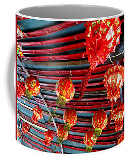 Coffee Mug featuring the photograph Red Lanterns 3 by Randall Weidner