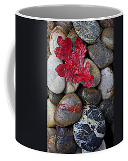 Red Leaf Wet Stones Coffee Mug