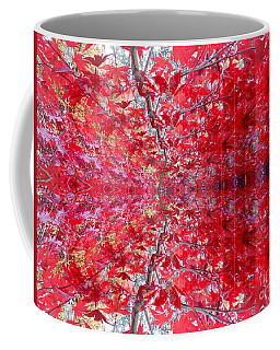 Red Leaves Abstract 1 Coffee Mug