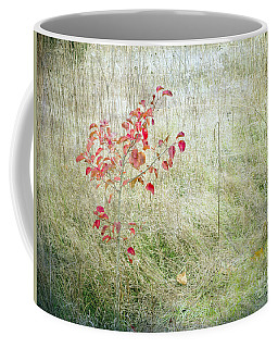 Red Leaves Amongst Grass Coffee Mug by Tamara Becker