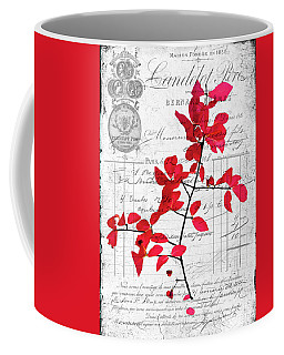 Red Leaves Coffee Mug