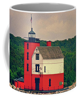 Red Lighthouse Hdr Coffee Mug