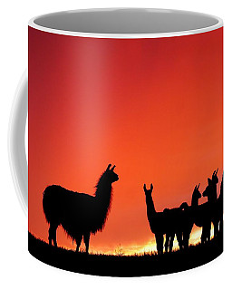 Red Llama Sunset 2 Coffee Mug