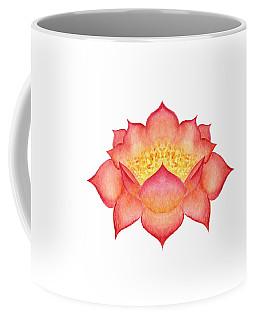 Coffee Mug featuring the painting Red Lotus by Elizabeth Lock
