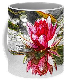 Red Lotus Flower Coffee Mug