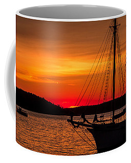 Red Maine Sunrise Coffee Mug by Steven Bateson