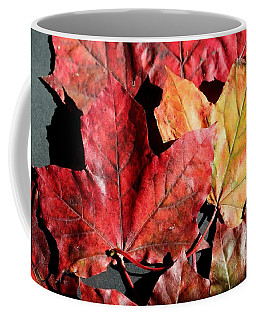 Coffee Mug featuring the photograph Red Maple Leaves Digital Painting by Barbara Griffin