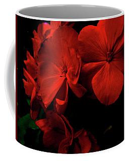 Red  Midnight Magic Flowers Coffee Mug