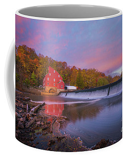 Red Mill Swirls  Coffee Mug
