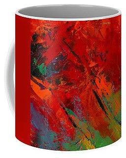 Coffee Mug featuring the painting Red Mood by Elise Palmigiani