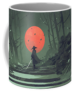 Red Moon Night Coffee Mug