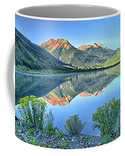 Red Mountains Reflected Coffee Mug