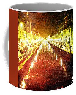 Red Naviglio Coffee Mug by Andrea Barbieri