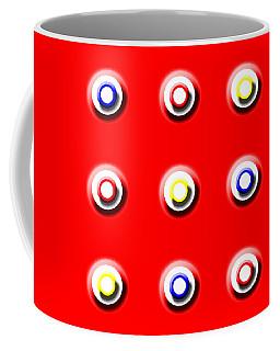 Red Nine Squared Coffee Mug