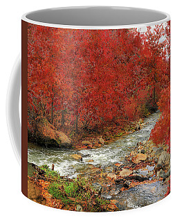 Coffee Mug featuring the photograph Red Oak Creek by Scott Cordell