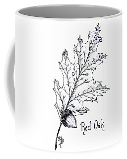 Red Oak Leaf And Acorn Coffee Mug