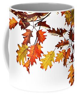 Red Oak Leaves In Fall Coffee Mug