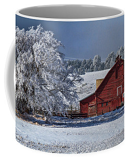 Red On White Coffee Mug