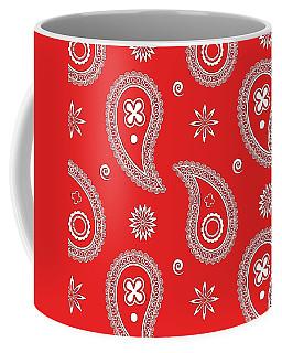 Red Paisley Coffee Mug