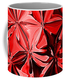 Red Pinched And Gathered Coffee Mug